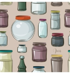 Pattern of empty jars vector