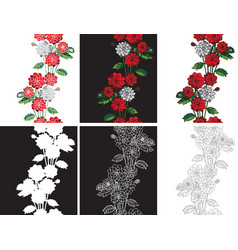pattern seamless flowers dahlias vector image vector image
