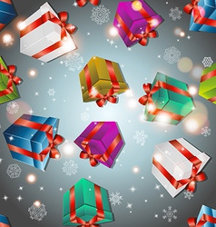 Pattern with gifts vector image