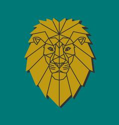 Polygonal emblem middle age lion vector