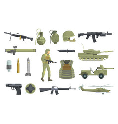 Professional army infantry forces weapons vector