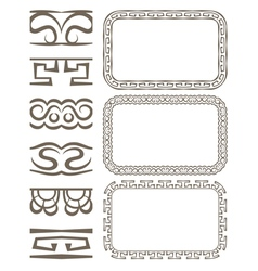 set of elegant borders and frames vector image vector image