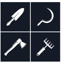 set of farming tools vector image