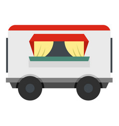 Street food trailer icon isolated vector
