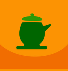 the teapot icon tea ceremony symbol flat vector image vector image