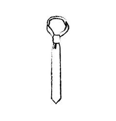 Tie accessory clothes wear elegance icon vector