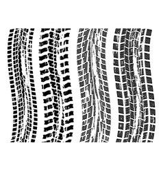 tire prints vector image vector image