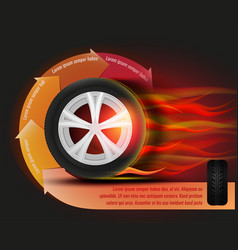 tyre banner image vector image vector image