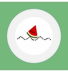 Watermelon boat vector image vector image