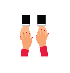 woman and man hands vector image
