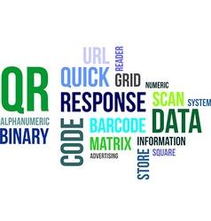 Word cloud qr code vector