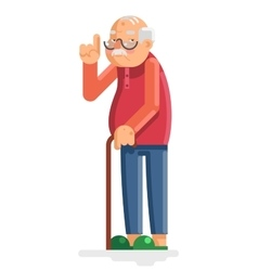 Old man grandfather adult flat design vector