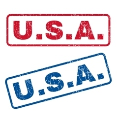 Usa rubber stamps vector