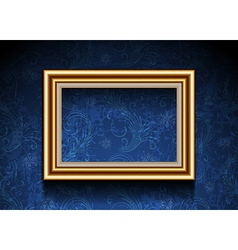 Picture frame on grunge wallpaper vector