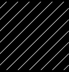 diagonal lines seamless black and white pattern vector image