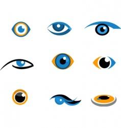 eye icons and logos vector image