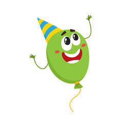 balloon character with smiling human face in vector image