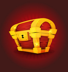 Treasure chest icon for game ui vector