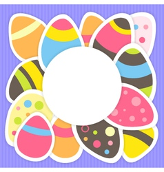 Easter eggs pattern on a purple vector image