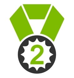 Second place icon from competition  success vector