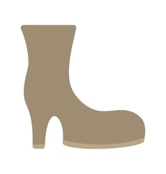Boots with heels vector