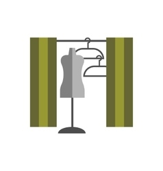 Dressing room studio on white background flat vector