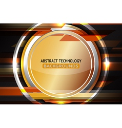 Abstract circle bronze background vector