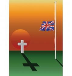 Half mast flag vector