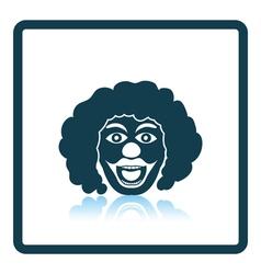 Party clown face icon vector