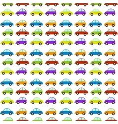 seamless pattern with car vector image