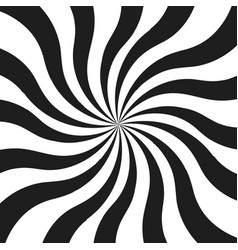 Abstract monochrome curly rays vector