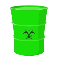 Cartoon barrel with toxic waste vector