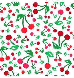 Cherry background painted pattern vector
