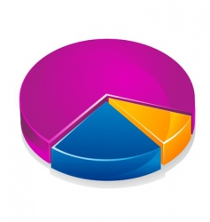 color graph vector image