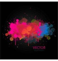 colorful paint splats background vector image