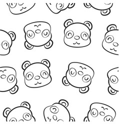 Cute animal hand draw pattern vector