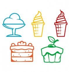 dessert food vector image vector image