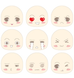 Emotion chibi face vector