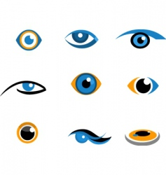 Eye icons and logos vector