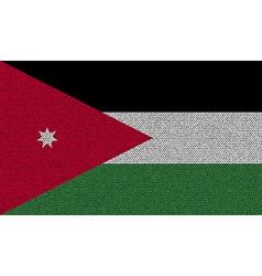 Flags Jordan on denim texture vector image vector image