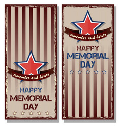 Flyer set for memorial day vector