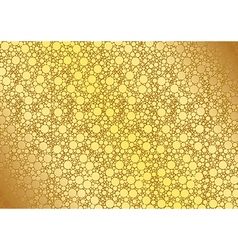 Golden Dotted Background vector image vector image