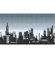 halftone skyline vector image vector image