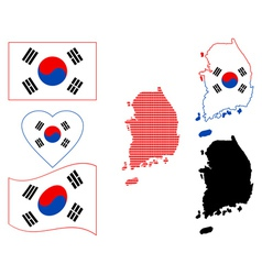 Map of South Korea vector image