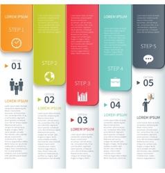Modern Minimalistic Multicolour Infographics vector image