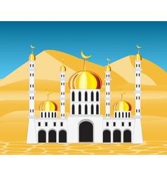 Mosque in desert vector