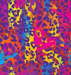 neon splatter animal print vector image vector image