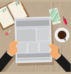 newspaper flat vector image