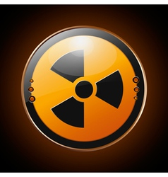 Nuclear radioactive symbol vector image