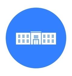 Police station icon black single building icon vector